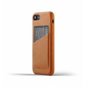 Mujjo Leren Wallet voor iPhone 7/8 - Bruin