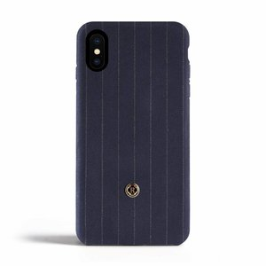 Revested iPhone X / Xs Case - Pinstripe Blue