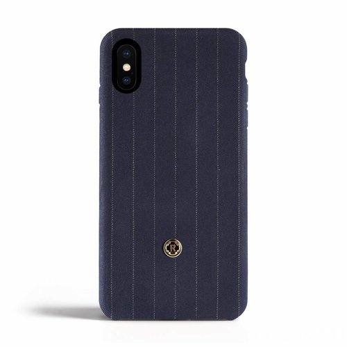 Revested iPhone X/Xs Hoesje - Pinstripe Blue