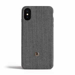 Revested iPhone X / Xs Case - Herringbone Gray