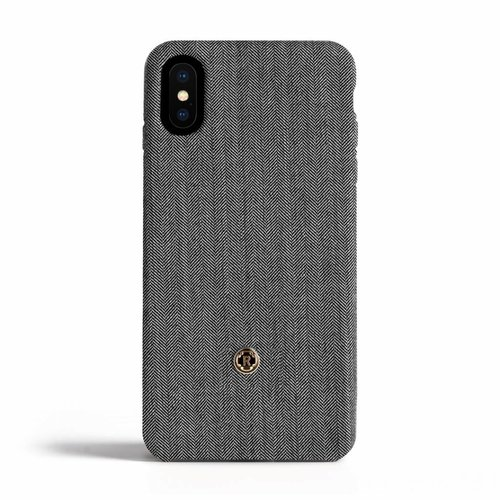 Revested iPhone X/Xs Hoesje - Herringbone Grey