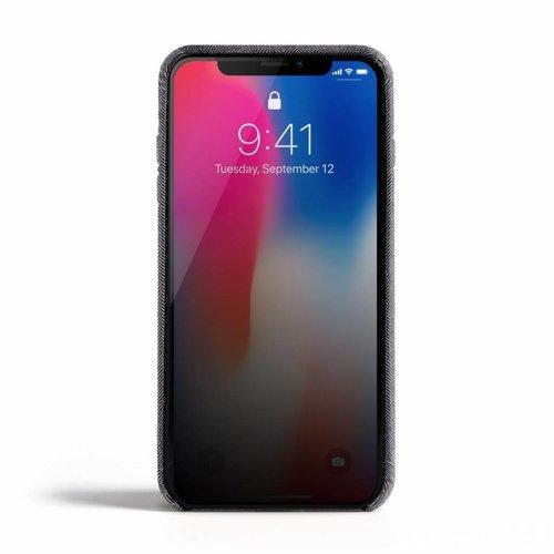 Revested iPhone X/Xs Hoesje - Herringbone Grey