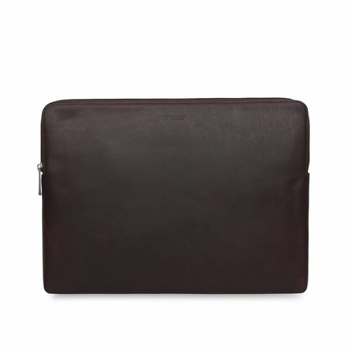 "Knomo 13"" Leather Laptop Sleeve - Brown"