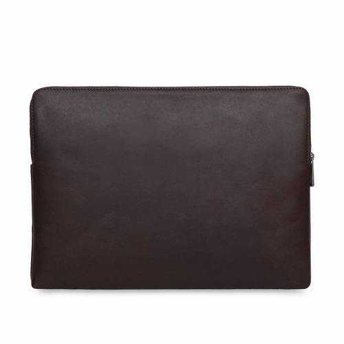 "Knomo 13"" Leren Laptop Sleeve - Brown"
