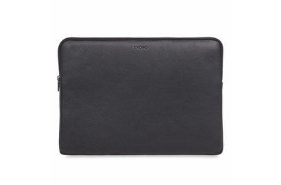 """Knomo Leren Laptop Sleeve 15"""" Zwart"""
