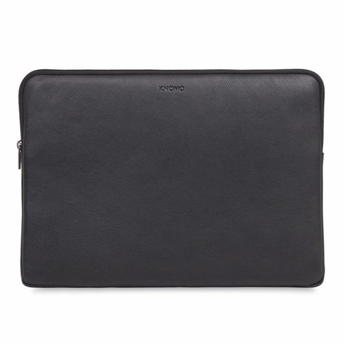 "Knomo 15"" Leren Laptop Sleeve - Black"