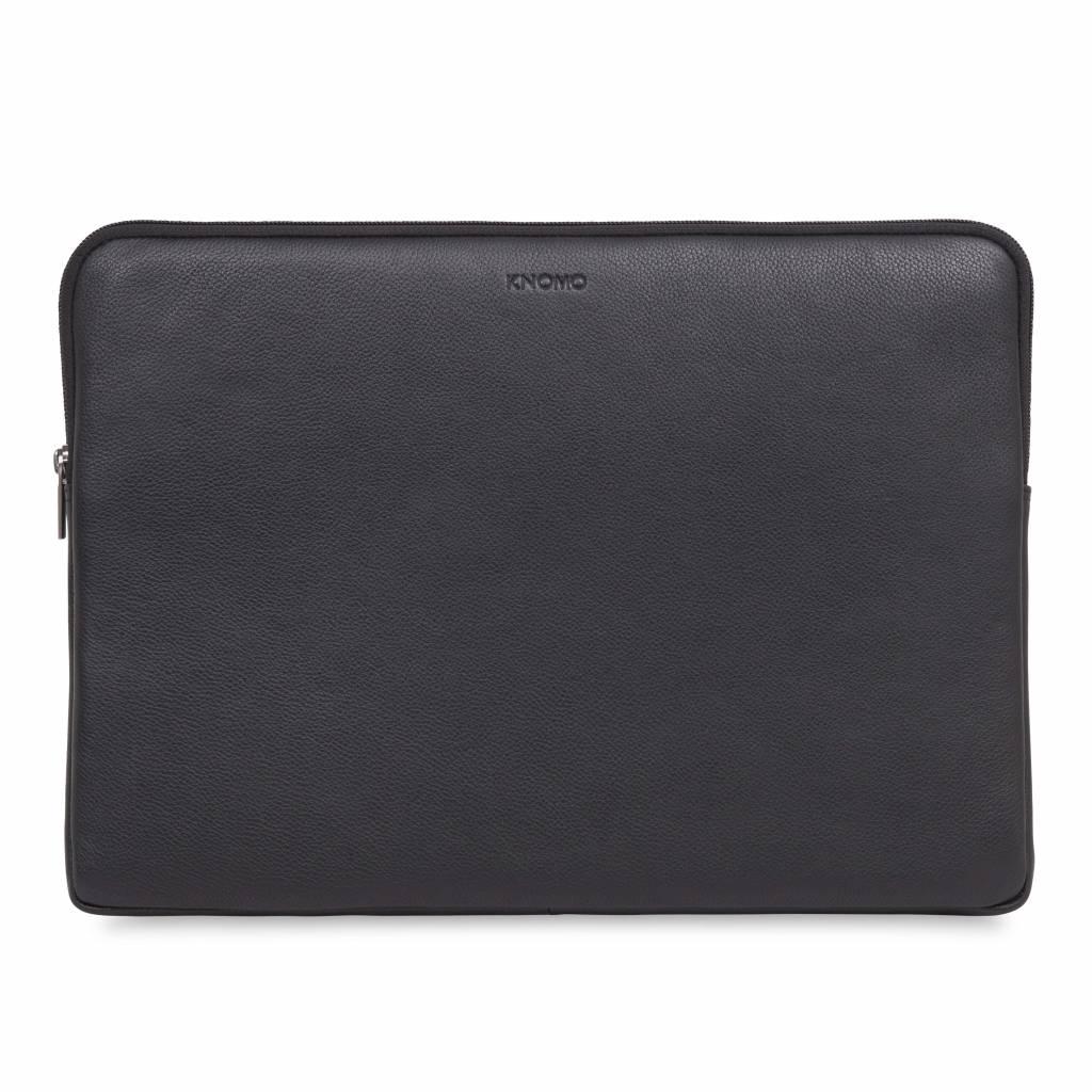 "15"" Leather Laptop Sleeve - Black"