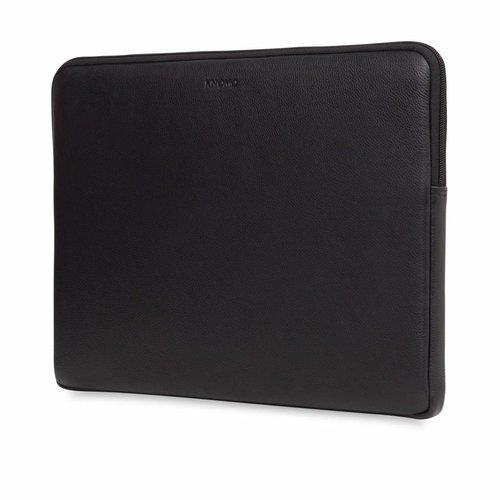 """Knomo 15"""" Leather Laptop Sleeve - Black"""