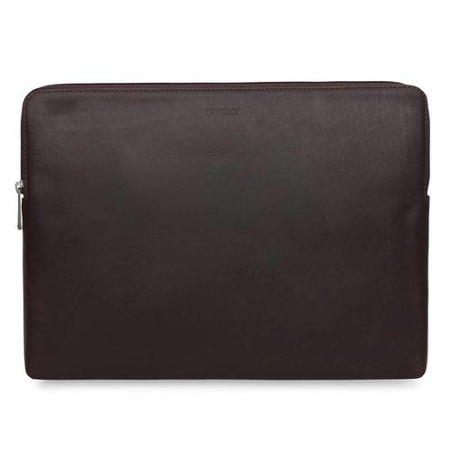 """Knomo 15"""" Leren Laptop Sleeve - Brown"""