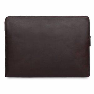 """Knomo Leren Laptop Sleeve 15"""" - Brown"""