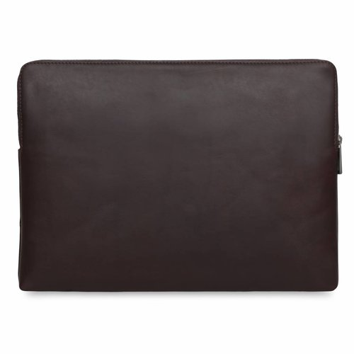 "Knomo 15"" Leather Laptop Sleeve - Brown"