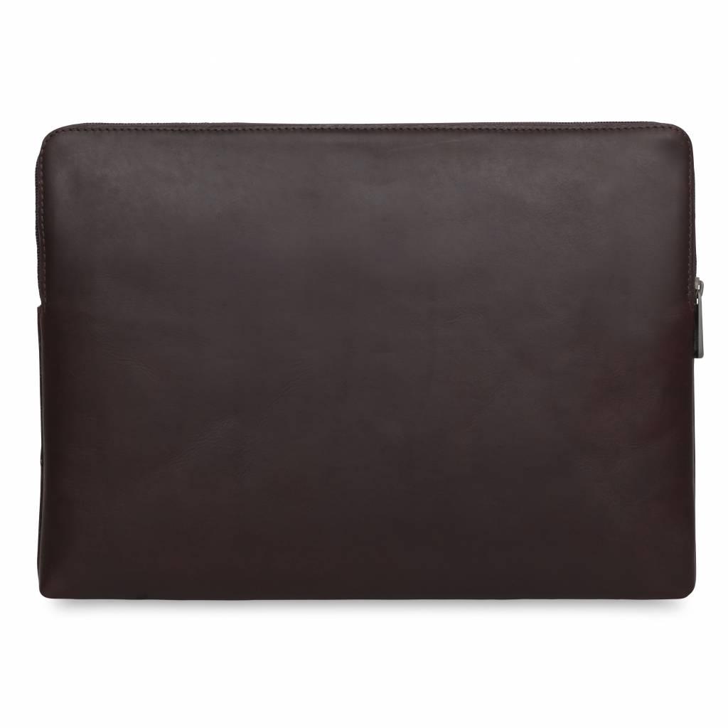 """15"""" Leren Laptop Sleeve - Brown"""