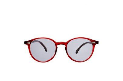 The Bespoke Dudes Eyewear Cran NGA Red / Gradient Grey