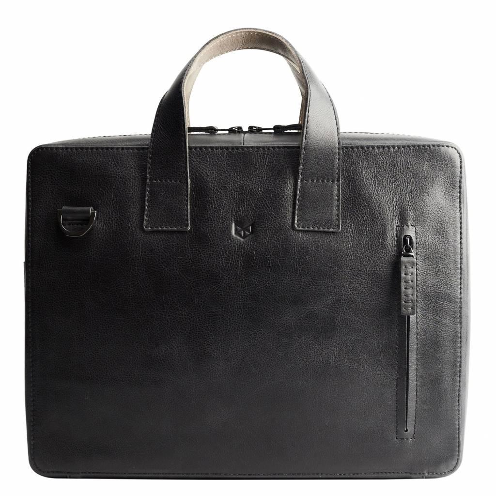 ba75b8c87bff Capra Leather Roko Briefcase Black