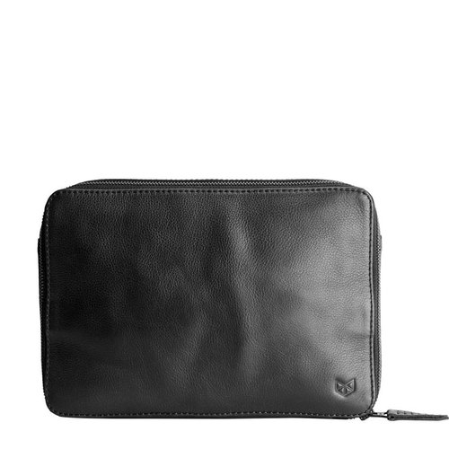 Capra Leather Gadget Organizer - Black