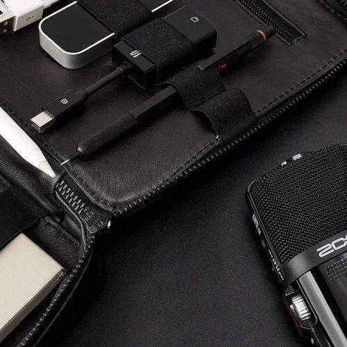 Capra Leather Gadget Organizer - Black