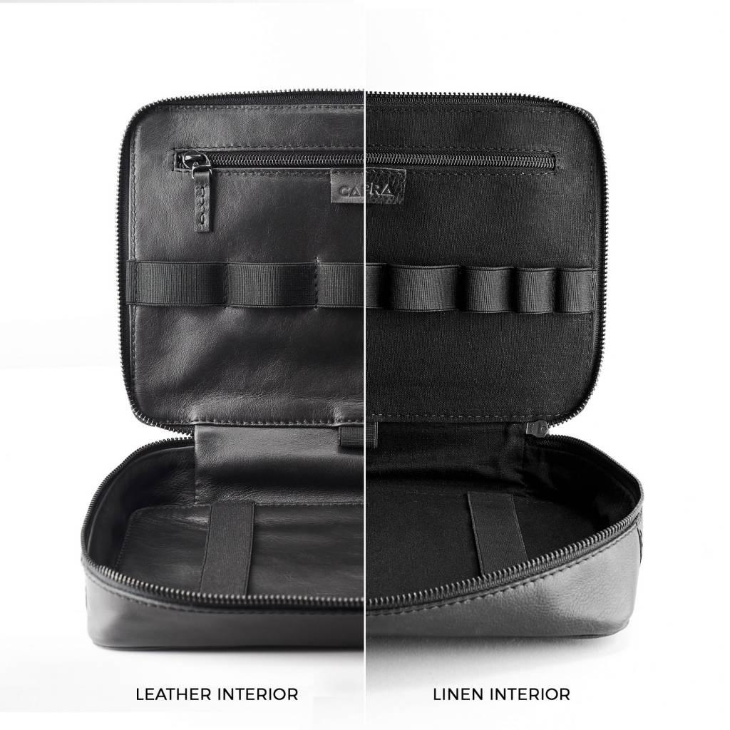 Capra Leather Capra Leather Gadget Organizer Black