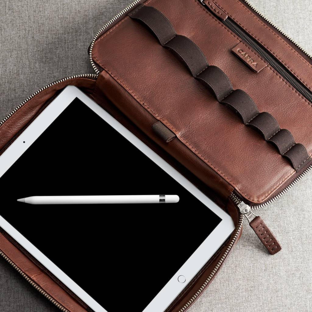 Capra Leather Capra Leather Gadget Organizer Tobacco