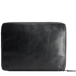Capra Leather Tech & Laptop Portfolio - Black