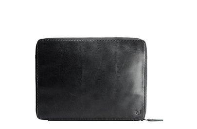 Capra Leather Tech & Laptop Portfolio Black