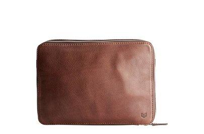 Capra Leather Tech & Laptop Portfolio Tobacco