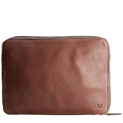 Capra Leather Tech & Laptop Portfolio - Tobacco