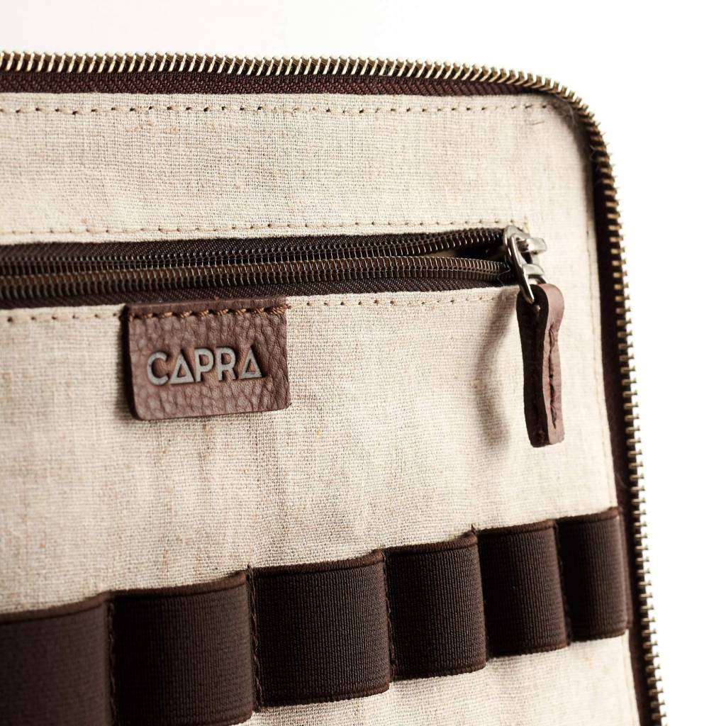 Capra Leather Capra Leather Tech & Laptop Portfolio Tobacco