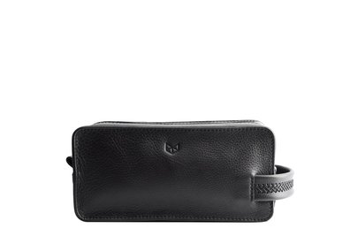 Capra Leather Barber Toiletry Black