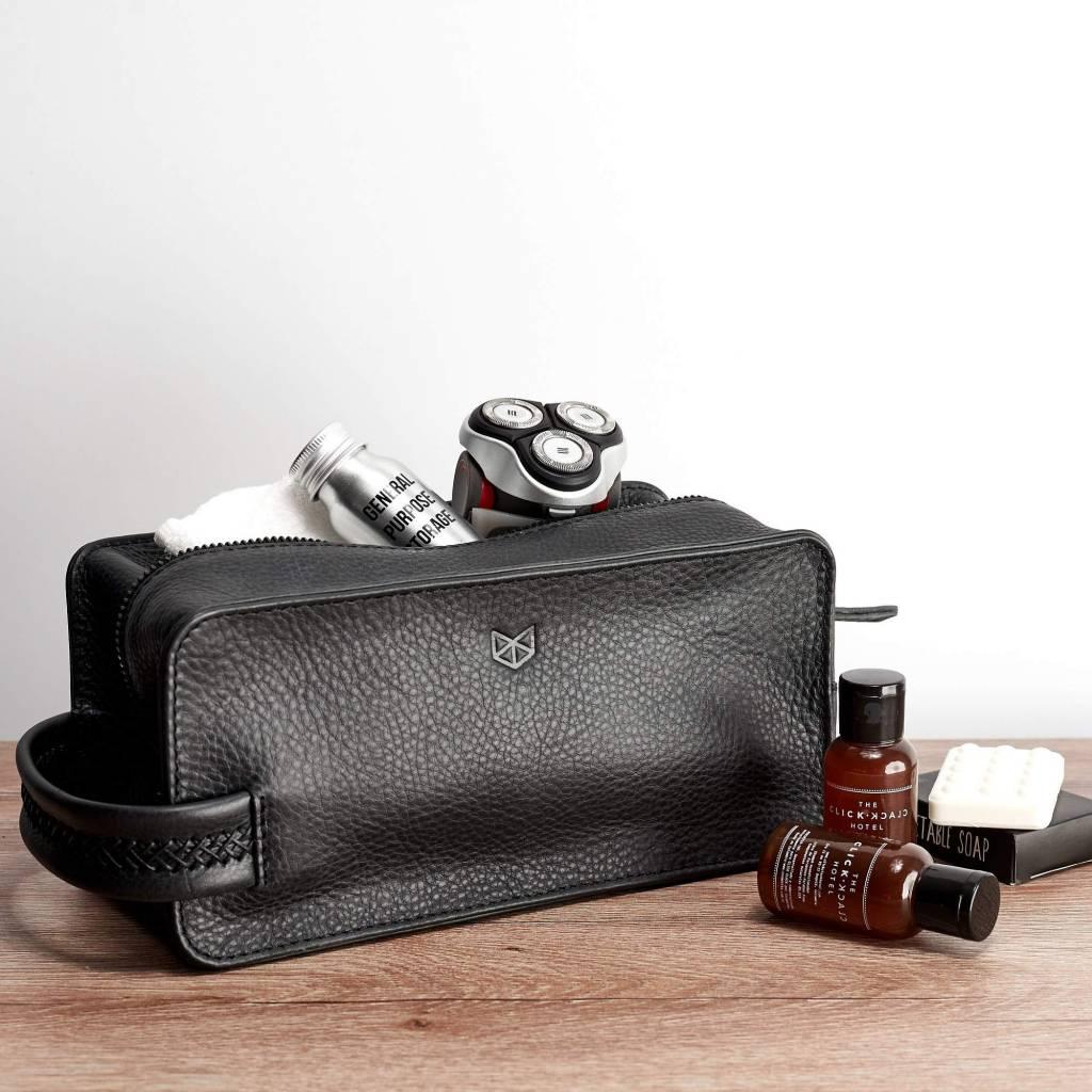 9b7d3d4a146a Capra Leather Barber Toilettas Black - Nuts   Noble