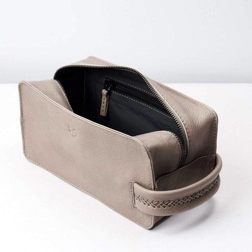 Capra Leather Barber Toilettas - Grey