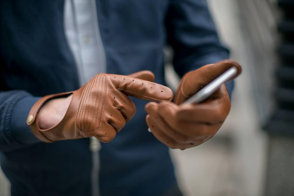 Napo Gloves napoSPEED Touchscreen Handschoenen Bruin