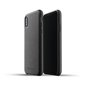 Mujjo Leather Case for iPhone X / Xs - Black