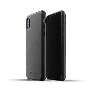 Mujjo Leren Hoesje iPhone X/Xs - Zwart