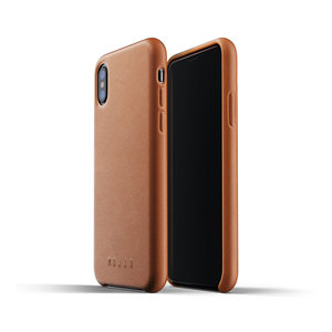 Mujjo Leather Case for iPhone X / Xs - Brown