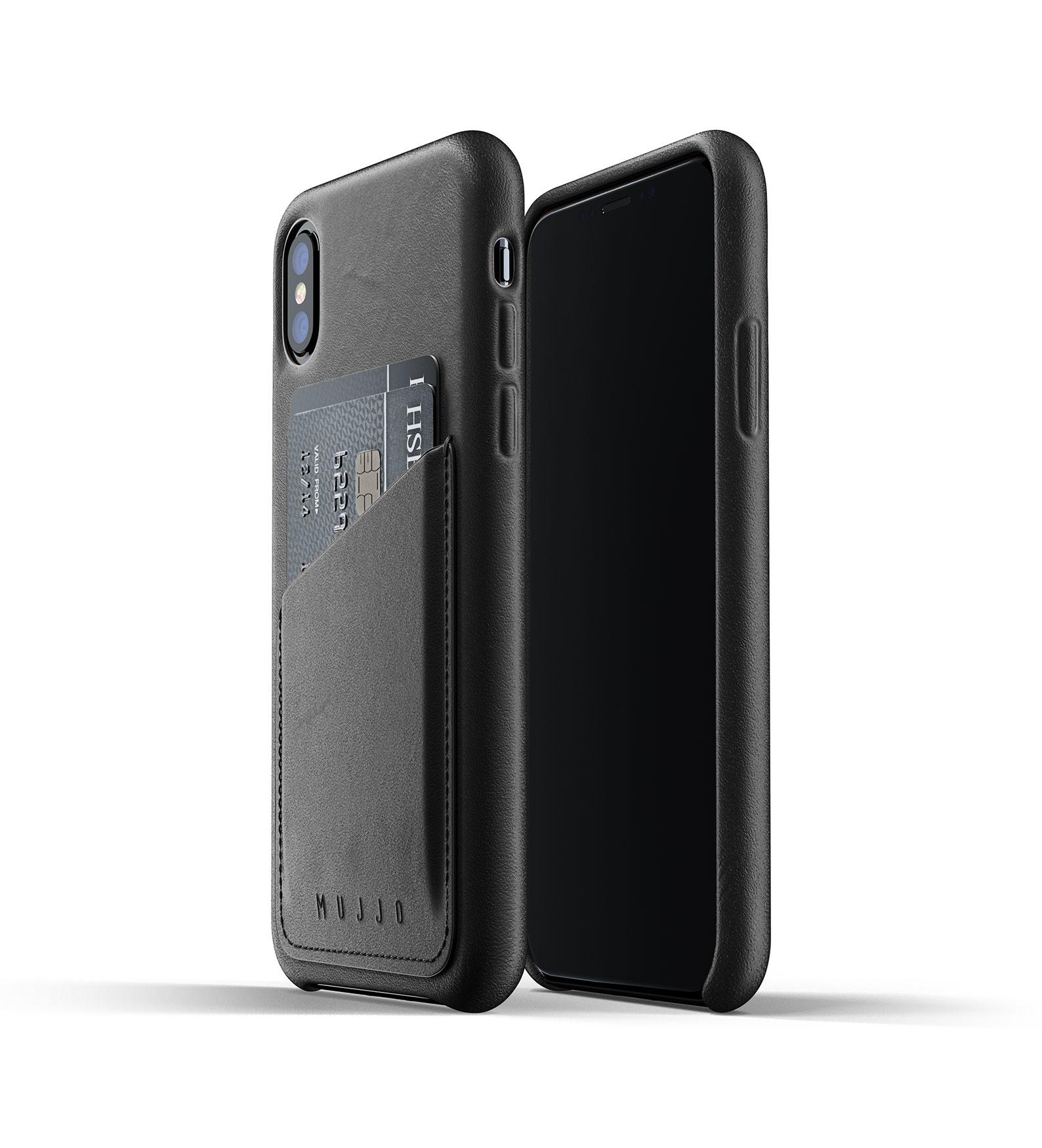 Leren Wallet voor iPhone X/Xs - Zwart