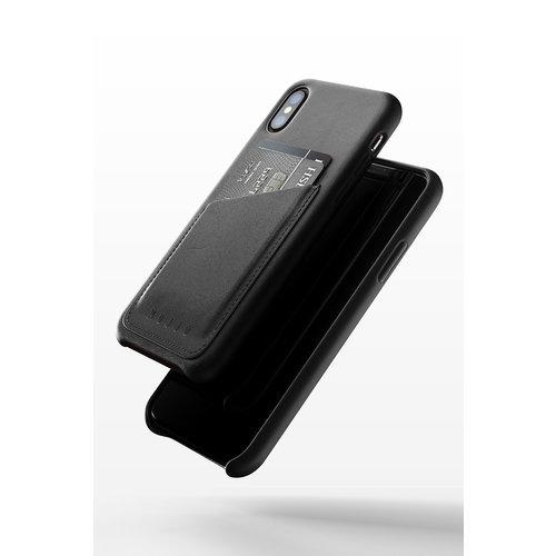 Mujjo Leren Wallet voor iPhone X/Xs - Zwart