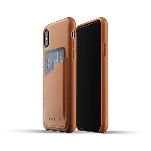 Mujjo Leather Wallet iPhone X / Xs - Brown
