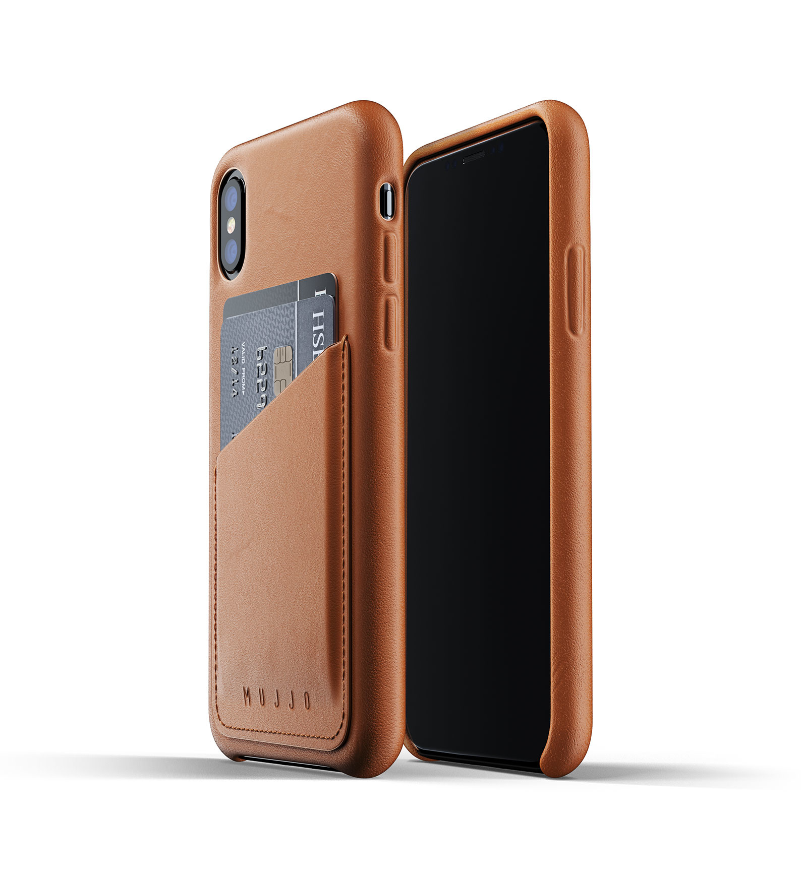 Leren Wallet voor iPhone X/Xs - Bruin