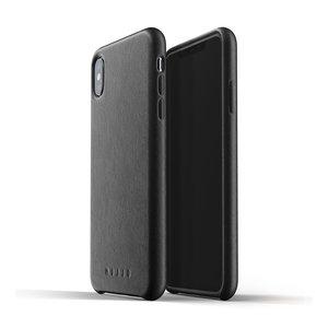 Mujjo Leren Hoesje voor iPhone Xs Max - Zwart