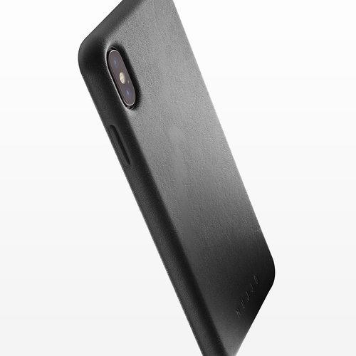Mujjo Leren Hoesje iPhone Xs Max - Zwart