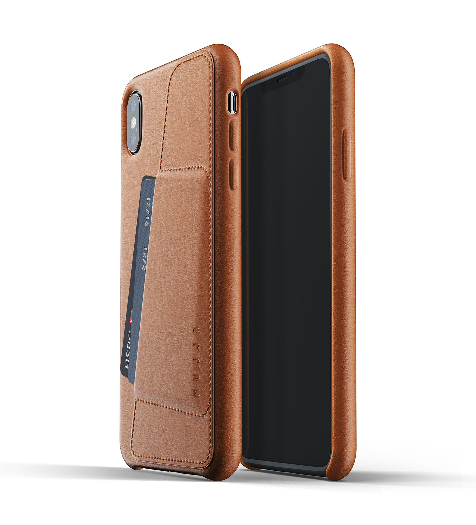 Leather Wallet iPhone Xs Max - Brown