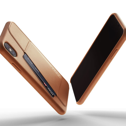 Mujjo Leather Wallet iPhone Xs Max - Brown