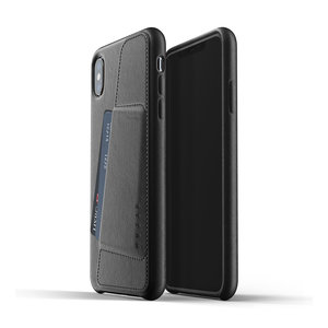 Mujjo Leather Wallet for iPhone Xs Max - Black