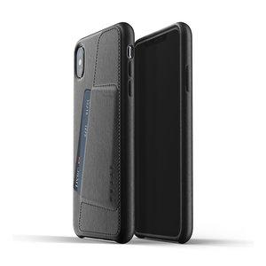 Mujjo Leren Wallet voor iPhone Xs Max - Zwart