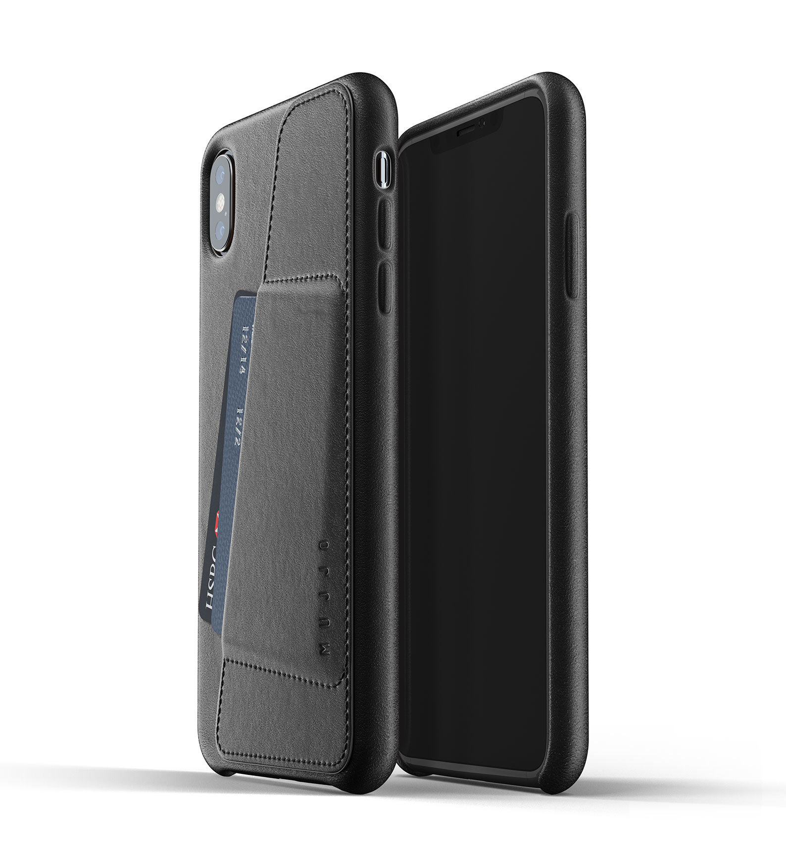 Leren Wallet iPhone Xs Max - Zwart