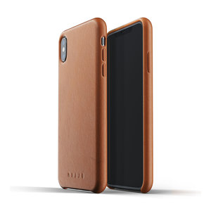 Mujjo Leather Case for iPhone Xs Max - Brown