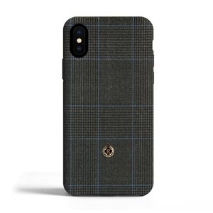 Revested iPhone X/Xs Hoesje - Prince of Wales Capri