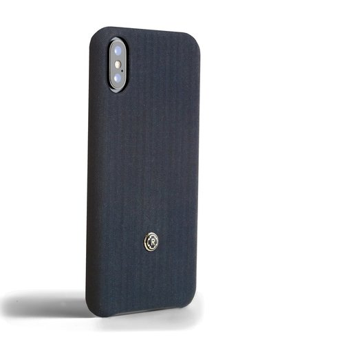Revested iPhone X / Xs Case - Herringbone Blue