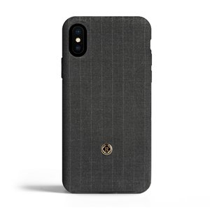 Revested iPhone X / Xs Case - Pintstripe Gray