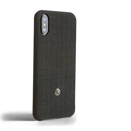 Revested iPhone X/Xs Hoesje - Pintstripe Grey